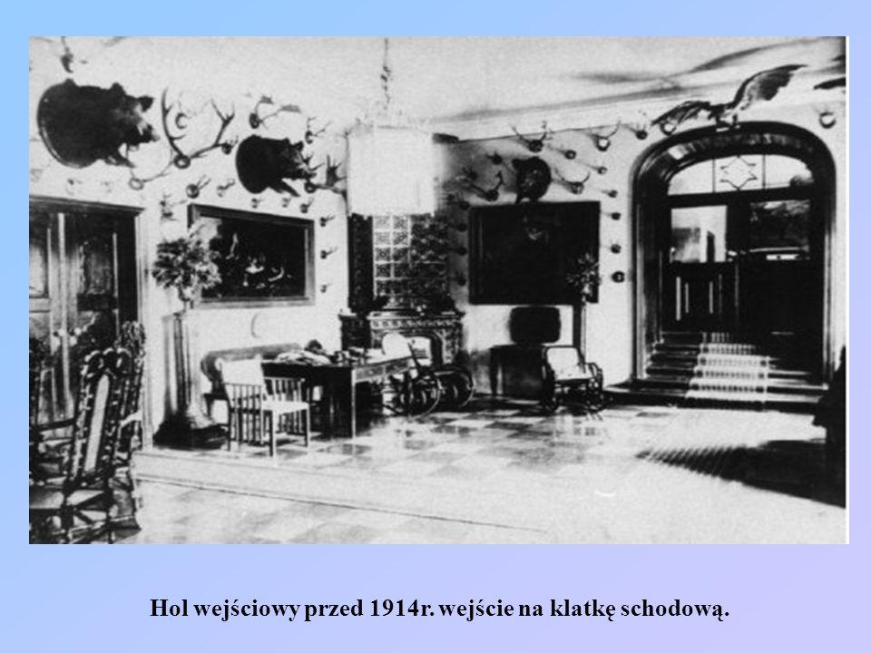 Salon duży przed 1914r. na lewo od wejścia z westybulu.
