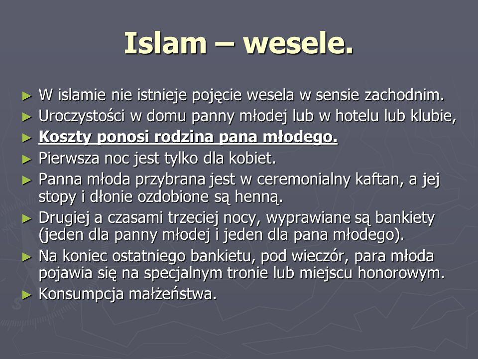 Islam – wesele. W islamie nie istnieje pojęcie wesela w sensie zachodnim. W islamie nie istnieje pojęcie wesela w sensie zachodnim. Uroczystości w dom