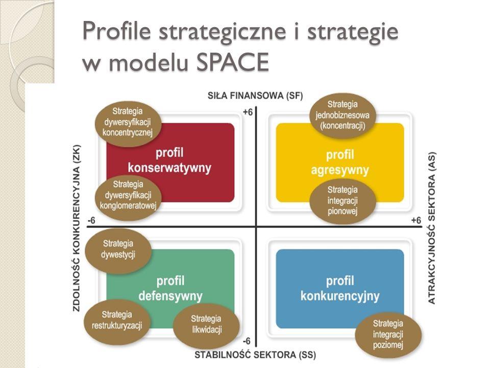 Profile strategiczne i strategie w modelu SPACE
