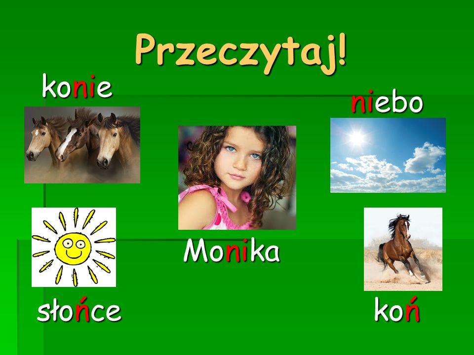 Przeczytaj! konie słońce koń Monika niebo