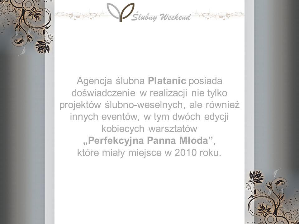 Agencja ślubna Platanic posiada doświadczenie w realizacji nie tylko projektów ślubno-weselnych, ale również innych eventów, w tym dwóch edycji kobiec