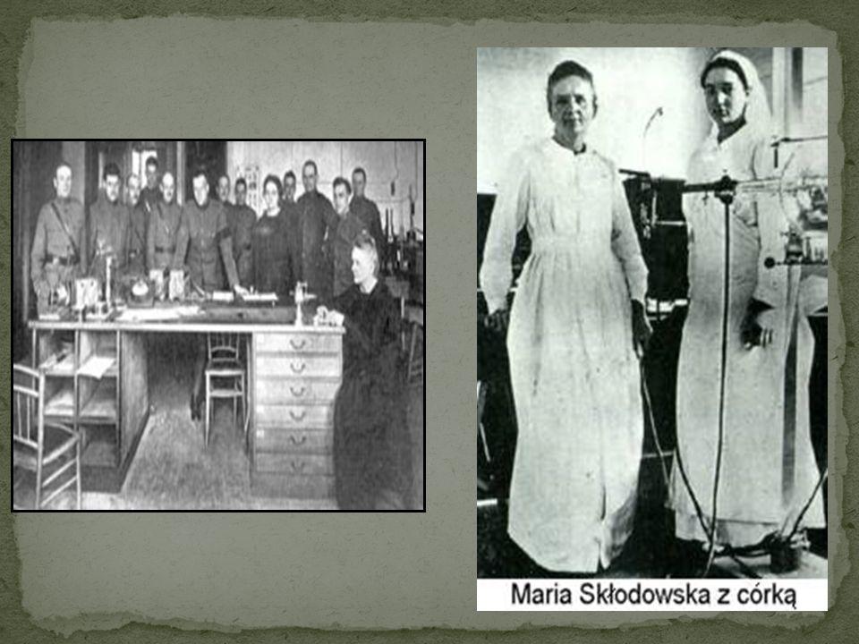 W czasie I wojny światowej Maria została szefem wojskowej komórki medycznej, która zajmowała się organizowaniem polowych stacji rentgenograficznych -