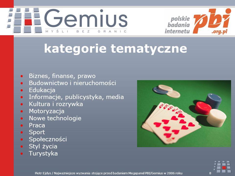 Piotr Ejdys / Najważniejsze wyzwania stojące przed badaniem Megapanel PBI/Gemius w 2006 roku8 Biznes, finanse, prawo Budownictwo i nieruchomości Eduka