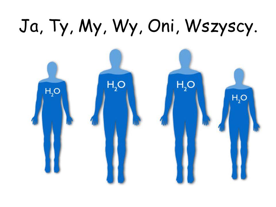 Oprócz wody mamy w sobie: W żołądku rozcieńczony roztwór kwasu solnego, który umożliwia trawienie.