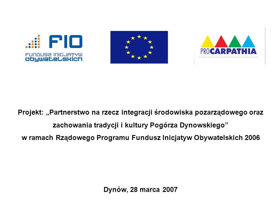 Kreowanie produktu lokalnego Stowarzyszenie na Rzecz Rozwoju i Promocji Podkarpacia Pro Carpathia Dynów, 28 marca 2007