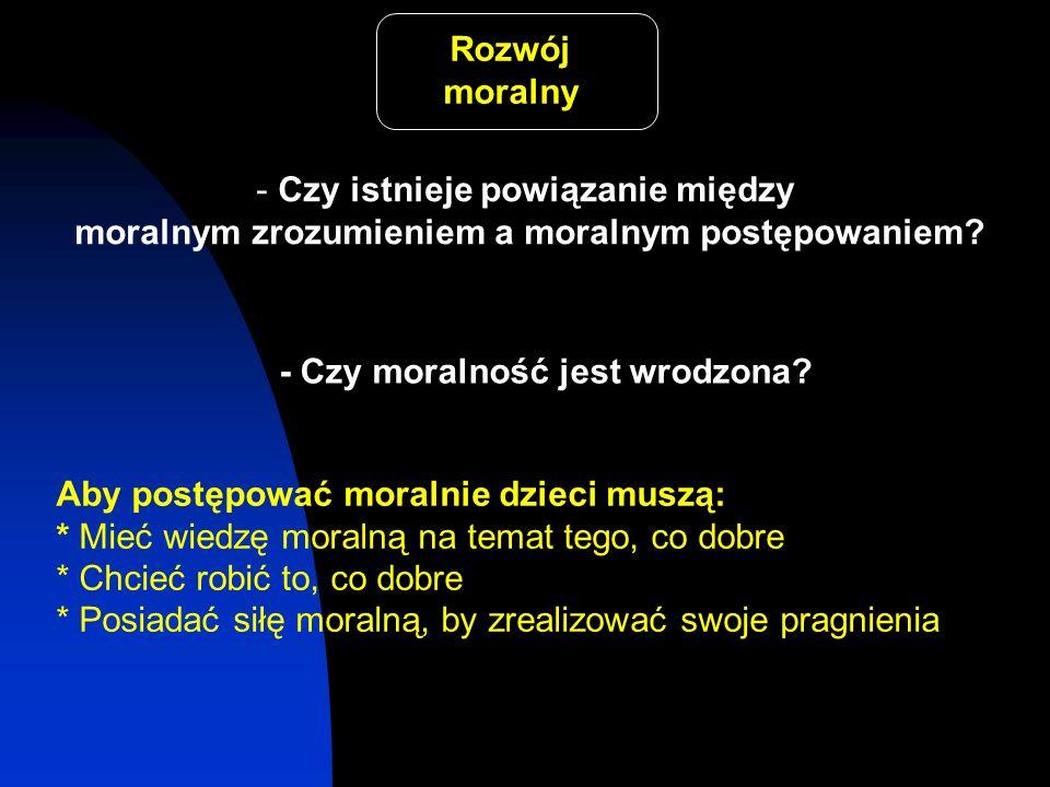 Rozwój moralny - Czy istnieje powiązanie między moralnym zrozumieniem a moralnym postępowaniem? - Czy moralność jest wrodzona? Aby postępować moralnie