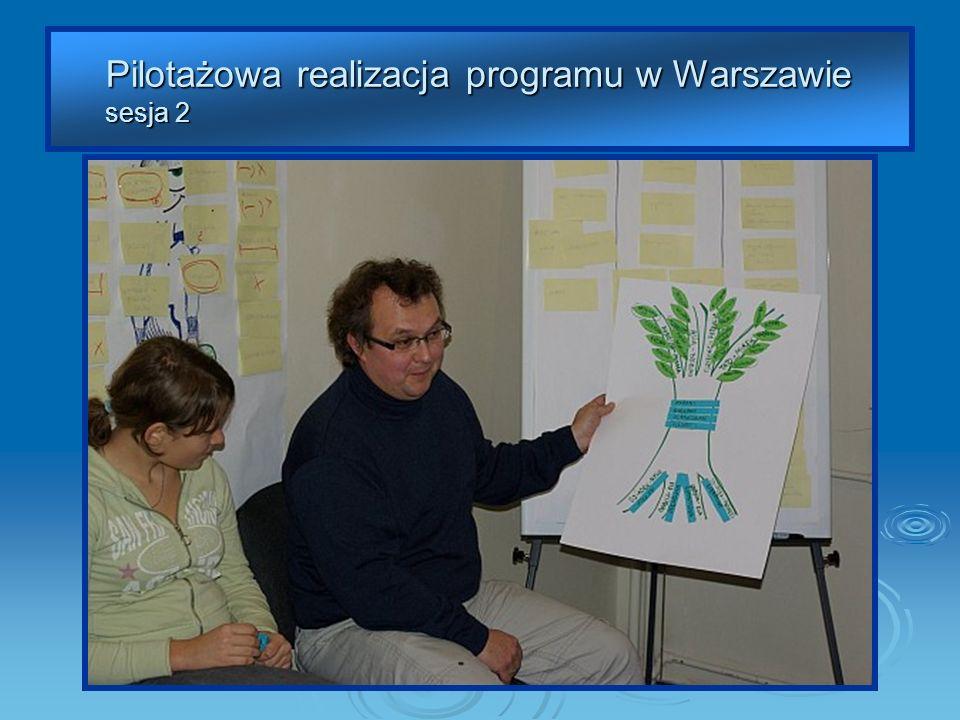 Pilotażowa realizacja programu w Warszawie sesja 2