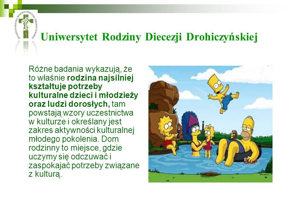 Uniwersytet Rodziny Diecezji Drohiczyńskiej Różne badania wykazują, że to właśnie rodzina najsilniej kształtuje potrzeby kulturalne dzieci i młodzieży