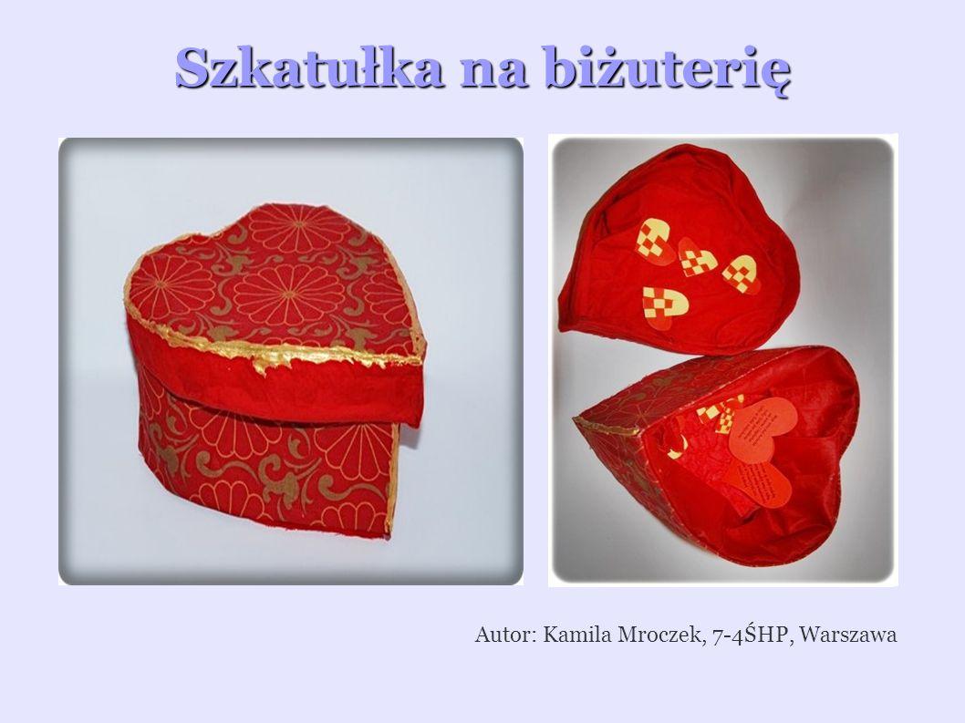Red – świecznik i szkatułka Autor: Anna Wojewódzka, 7-35HP, Warszawa