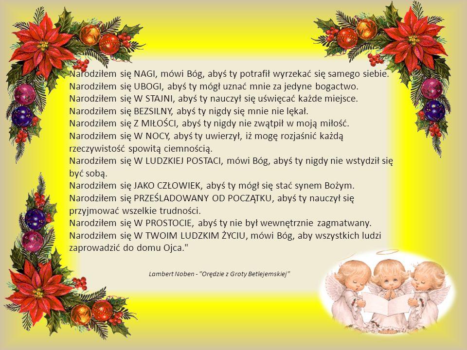Albowiem Dziecię nam się narodziło, Syn został nam dany, na Jego barkach spoczęła władza.