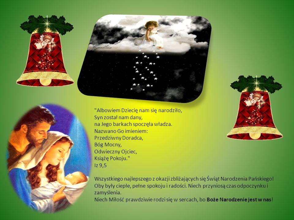 Wszelkiej Radości i Miłości od Narodzonego Jezuska życzy Dyrektor, Grono Pedagogiczne, Pracownicy, Rodzice i Uczniowie naszej szkoły.