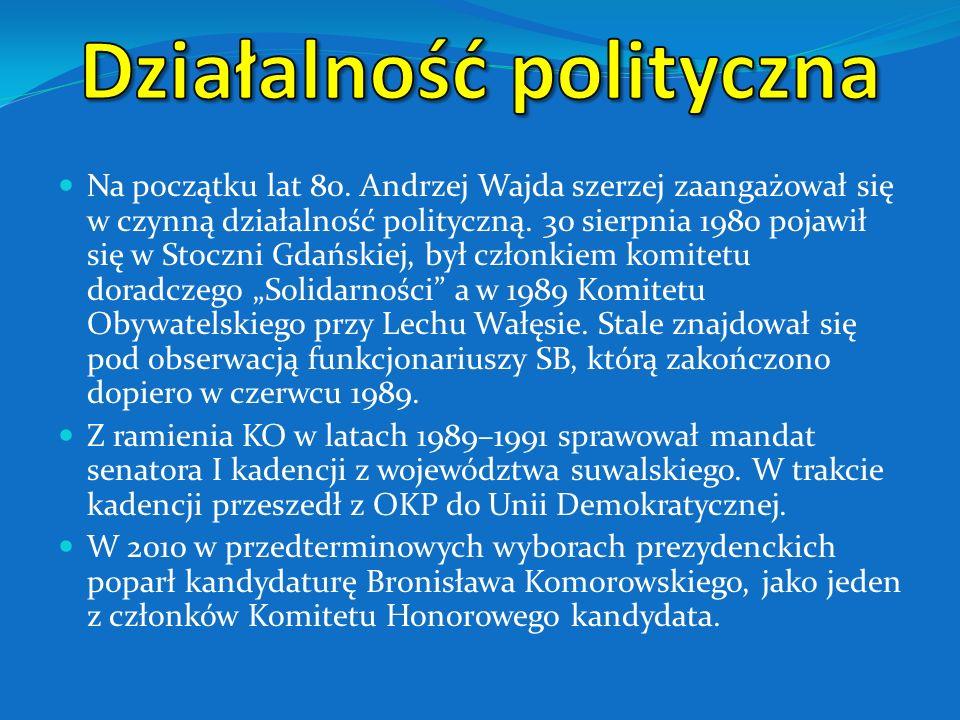 Andrzej Wajda na planie filmu Ziemia Obiecana 1974