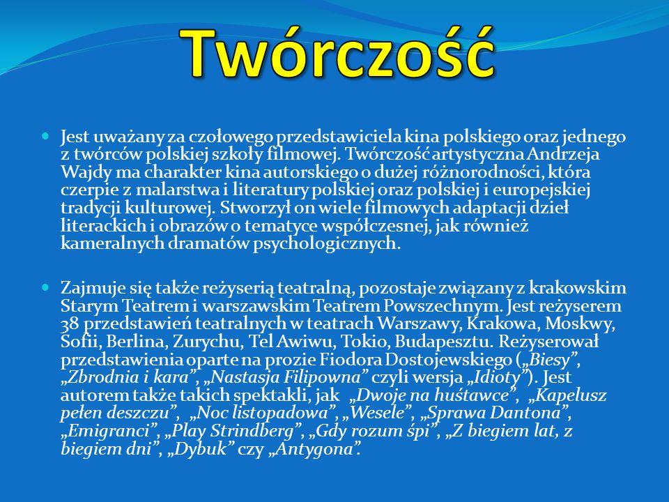 Na początku lat 80. Andrzej Wajda szerzej zaangażował się w czynną działalność polityczną. 30 sierpnia 1980 pojawił się w Stoczni Gdańskiej, był człon