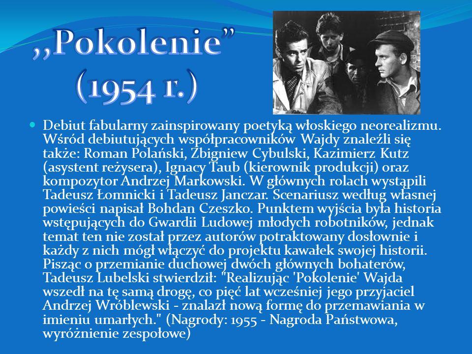 Panna Nikt (1996) Andrzej Wajda. Moje notatki z historii(1996) Pan Tadeusz (1999) Kredyt i debet. Andrzej Wajda o sobie (1999) Wyrok na Franciszka Kło