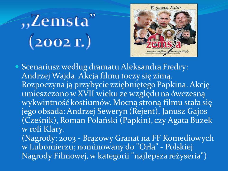 Scenariusz według poematu Adama Mickiewicza: Andrzej Wajda, Jan Nowina-Zarzycki, Piotr Wereśniak. Fabuła zawiera wszystkie znaczące wątki poematu. Dia