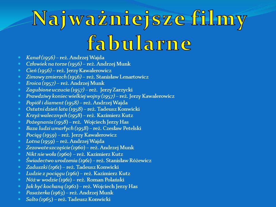 Kanał (1956) – reż.Andrzej Wajda Człowiek na torze (1956) – reż.