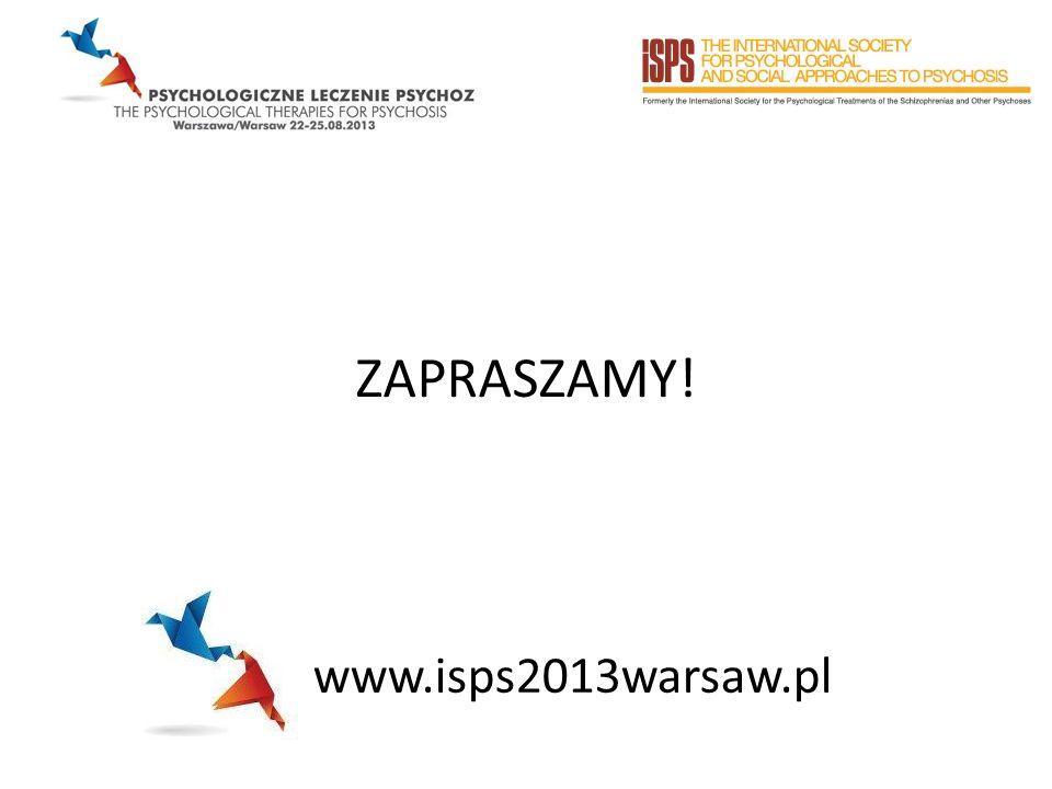 ZAPRASZAMY! www.isps2013warsaw.pl