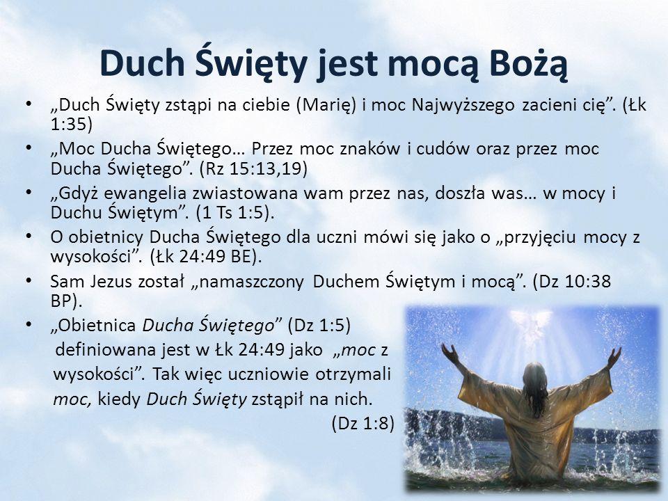 Duchem swym niebiosa przyozdobił (Hi 26:13 BG) – duch Boży unosił się nad powierzchnią wód stwarzając obecny świat (Rdz 1:2).