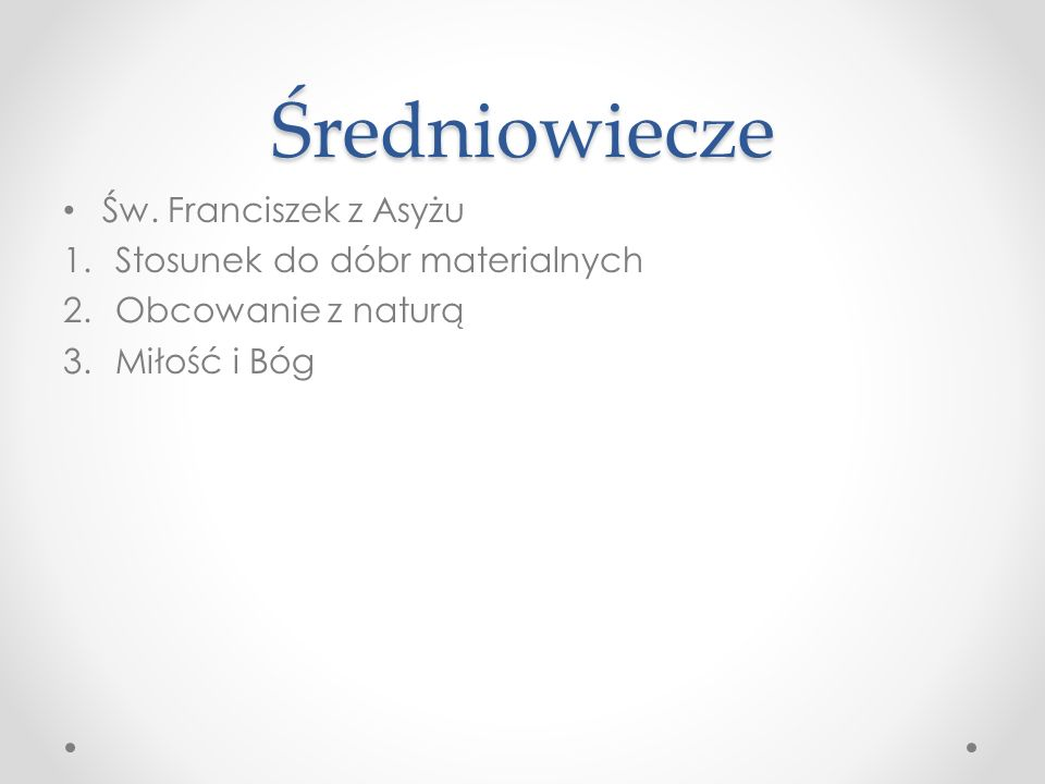 Średniowiecze Św.