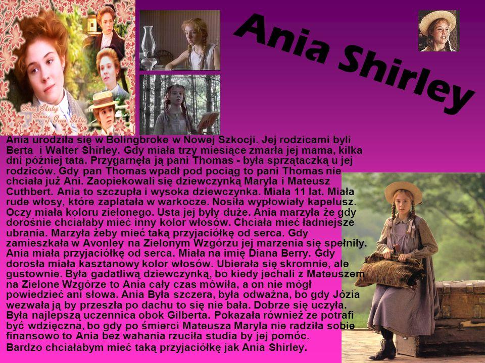Ania urodziła się w Bolingbroke w Nowej Szkocji. Jej rodzicami byli Berta i Walter Shirley. Gdy miała trzy miesiące zmarła jej mama, kilka dni później