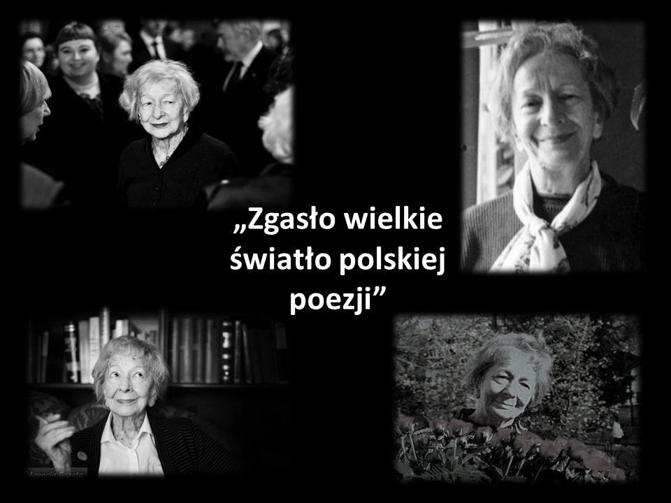 Zgasło wielkie światło polskiej poezji
