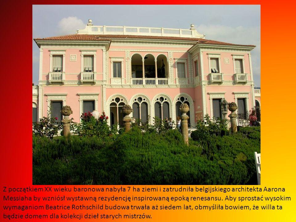 Z początkiem XX wieku baronowa nabyła 7 ha ziemi i zatrudniła belgijskiego architekta Aarona Messiaha by wzniósł wystawną rezydencję inspirowaną epoką renesansu.