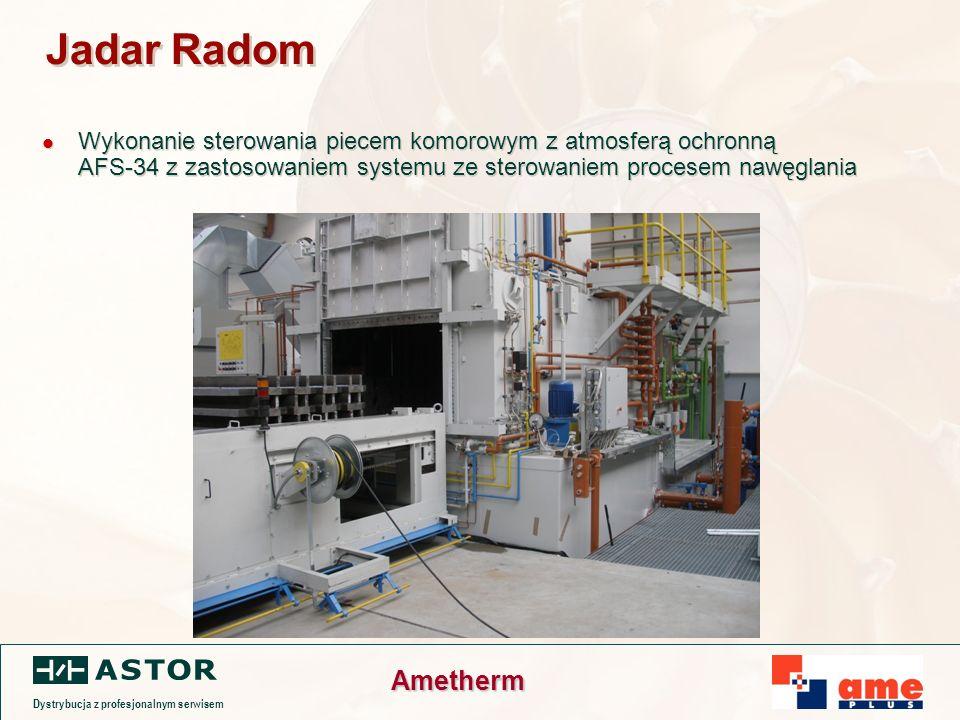 Dystrybucja z profesjonalnym serwisem Ametherm Jadar Radom Wykonanie sterowania piecem komorowym z atmosferą ochronną AFS-34 z zastosowaniem systemu ze sterowaniem procesem nawęglania