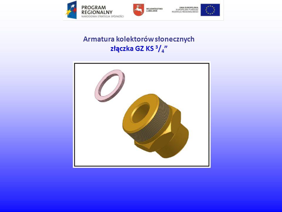 Armatura kolektorów słonecznych złączka GZ KS 3 / 4