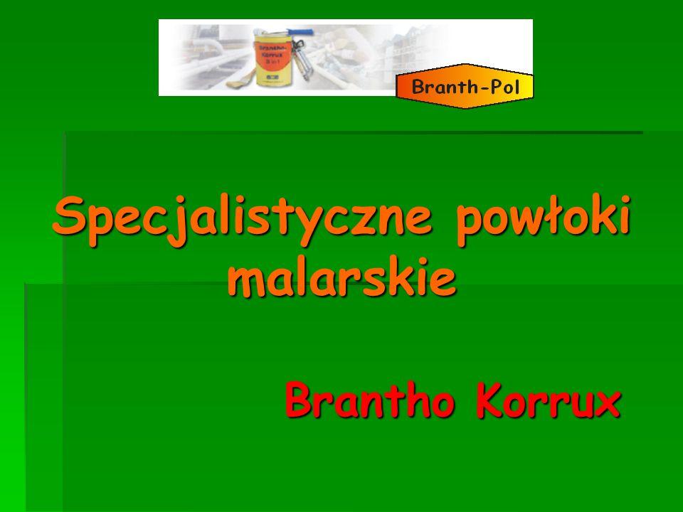 Brantho Korrux 3 in 1 Pokrycie Brantho-Korrux 3 w 1 (powyżej) w porównaniu do konkurencyjnego produktu (poniżej) stosowany z taką samą grubością.