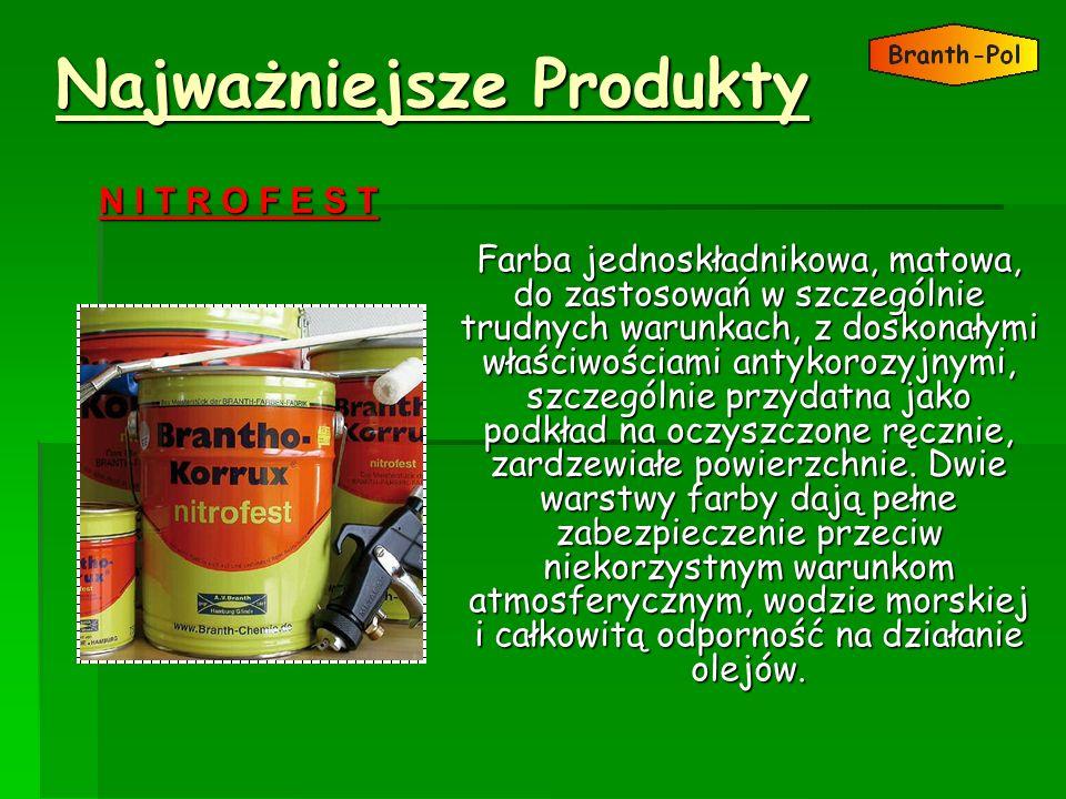 Najważniejsze Produkty Farba jednoskładnikowa, matowa, do zastosowań w szczególnie trudnych warunkach, z doskonałymi właściwościami antykorozyjnymi, s
