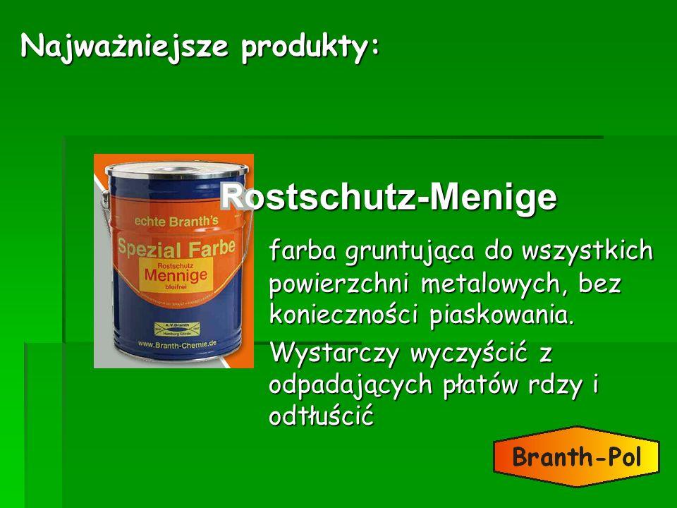 ostschutz-Menige farba gruntująca do wszystkich powierzchni metalowych, bez konieczności piaskowania. Wystarczy wyczyścić z odpadających płatów rdzy i