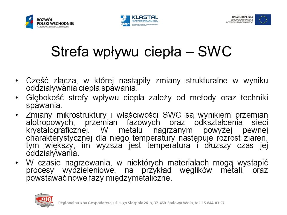 Strefa wpływu ciepła – SWC Regionalna Izba Gospodarcza, ul.