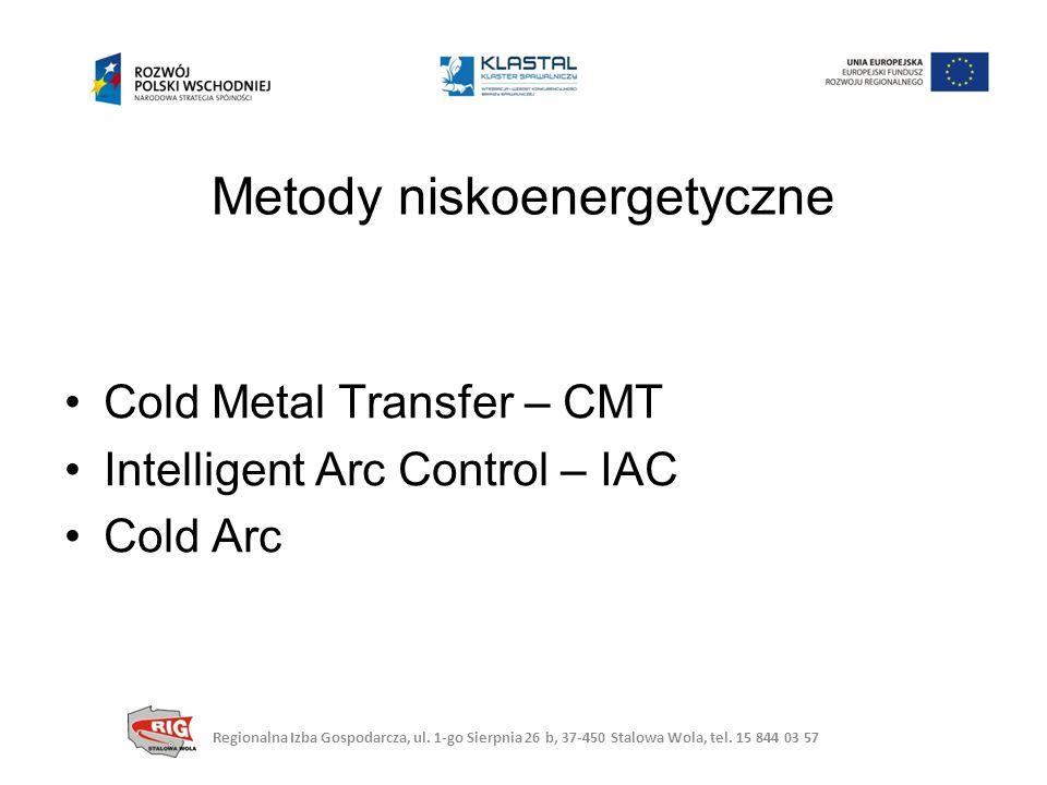 Cold Metal Transfer – CMT Intelligent Arc Control – IAC Cold Arc Metody niskoenergetyczne Regionalna Izba Gospodarcza, ul.