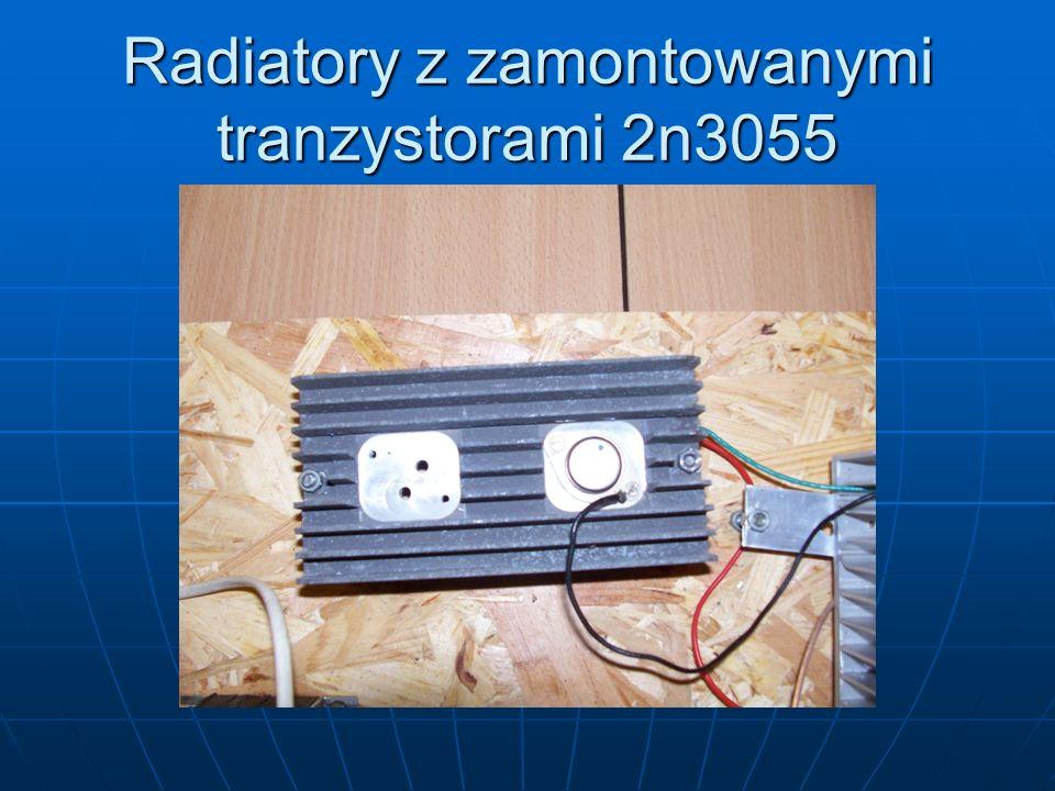 Radiatory z zamontowanymi tranzystorami 2n3055