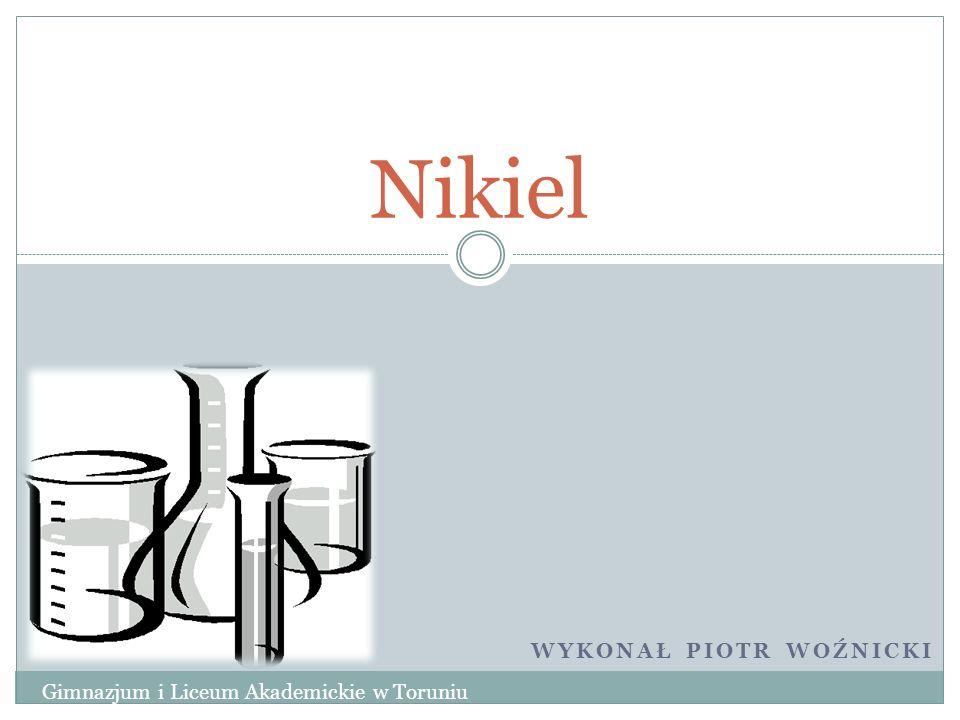 Reakcje charakterystyczne Wodny roztwór amoniaku NH 3(aq) dodawany w niewielkich ilościach do roztworu zawierającego jony Ni 2+ wytrąca się zielonkawy hydroksosoli, np.