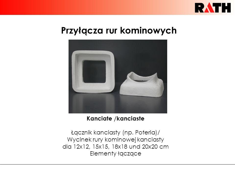 Przyłącza rur kominowych Kanciate /kanciaste Łącznik kanciasty (np. Poteria)/ Wycinek rury kominowej kanciasty dla 12x12, 15x15, 18x18 und 20x20 cm El