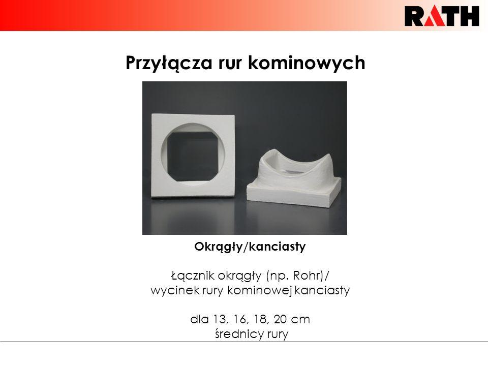 Przyłącza rur kominowych Okrągły/kanciasty Łącznik okrągły (np. Rohr)/ wycinek rury kominowej kanciasty dla 13, 16, 18, 20 cm średnicy rury