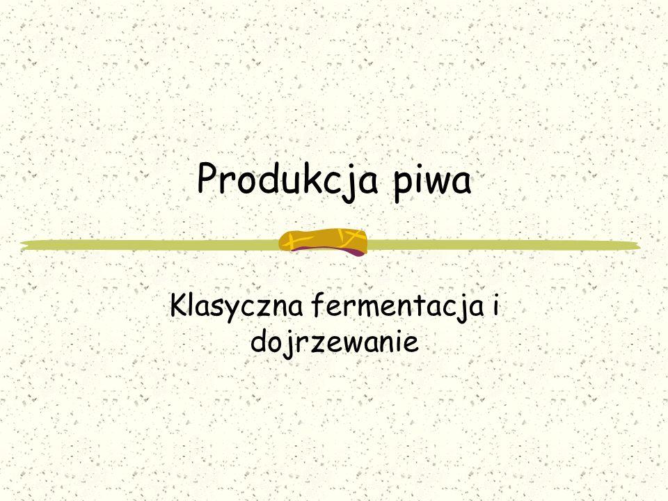 Produkcja piwa Klasyczna fermentacja i dojrzewanie