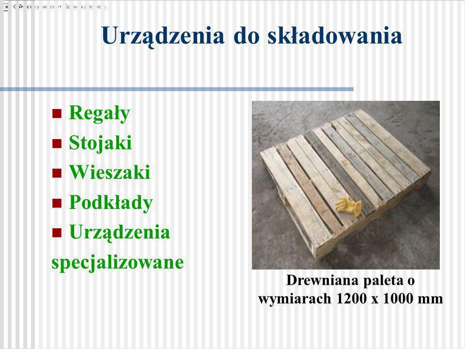 Urządzenia do składowania Regały Stojaki Wieszaki Podkłady Urządzenia specjalizowane Drewniana paleta o wymiarach 1200 x 1000 mm
