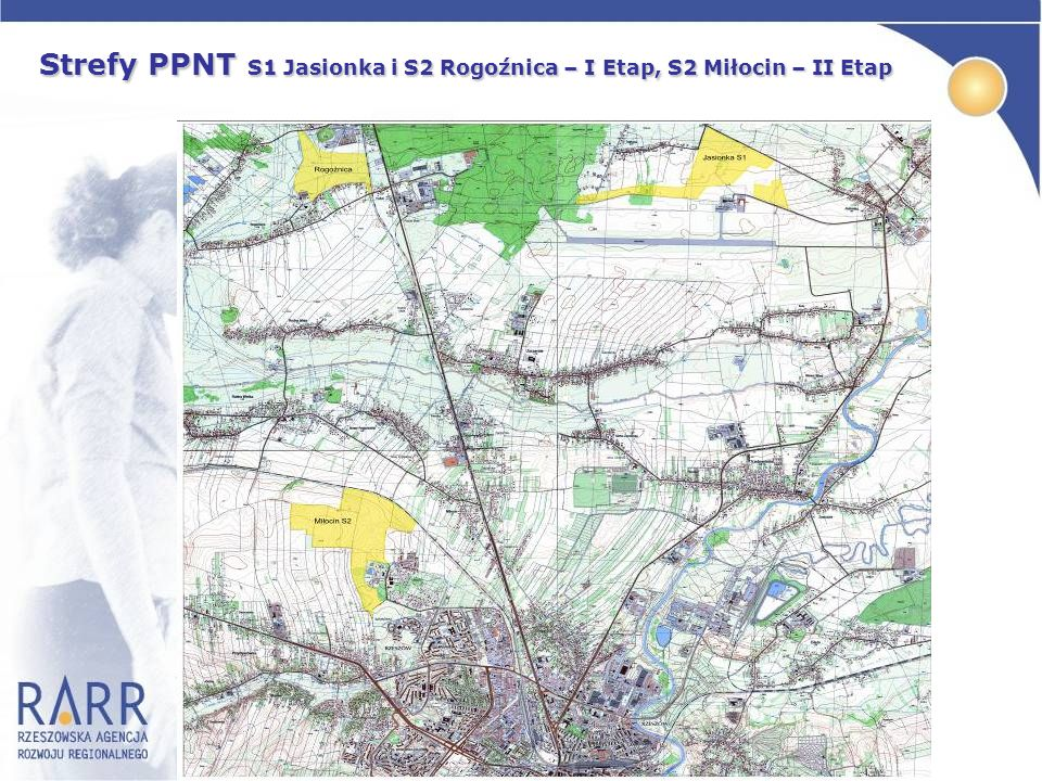Strefy PPNT S1 Jasionka i S2 Rogoźnica – I Etap, S2 Miłocin – II Etap