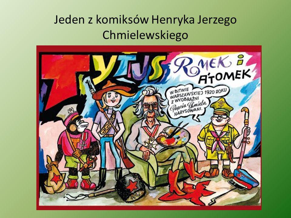 Jeden z komiksów Henryka Jerzego Chmielewskiego