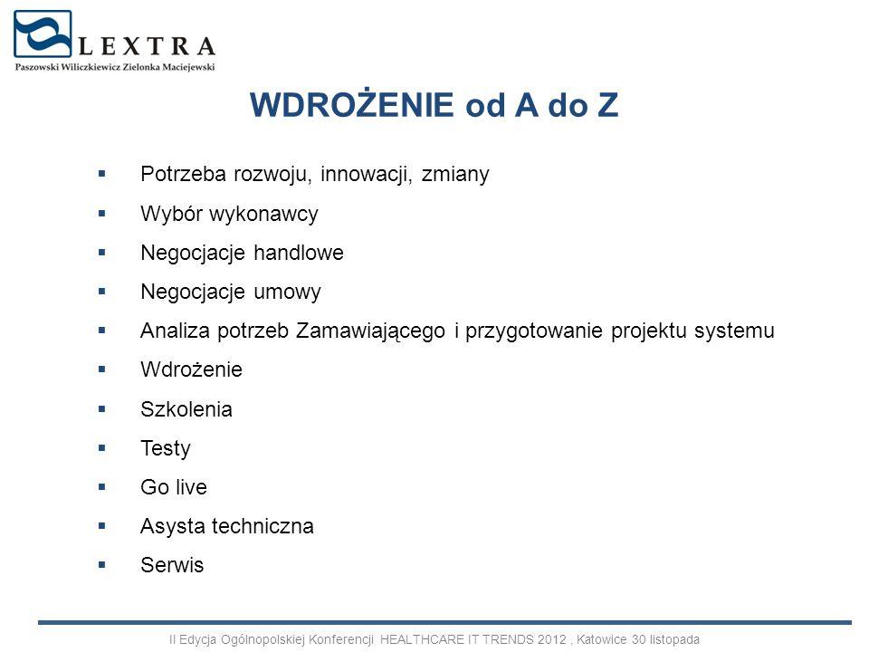dopuszczalność dochodzenia odszkodowania dopuszczalność dochodzenia zastrzeżonej kary umownej moc obowiązująca postanowienia o zapisie na sąd polubowny moc obowiązująca klauzuli konkurencyjnej obowiązek zwrotu świadczeń – pieniężnych i niepieniężnych Odstąpienie od umowy – skutki prawne II Edycja Ogólnopolskiej Konferencji HEALTHCARE IT TRENDS 2012, Katowice 30 listopada