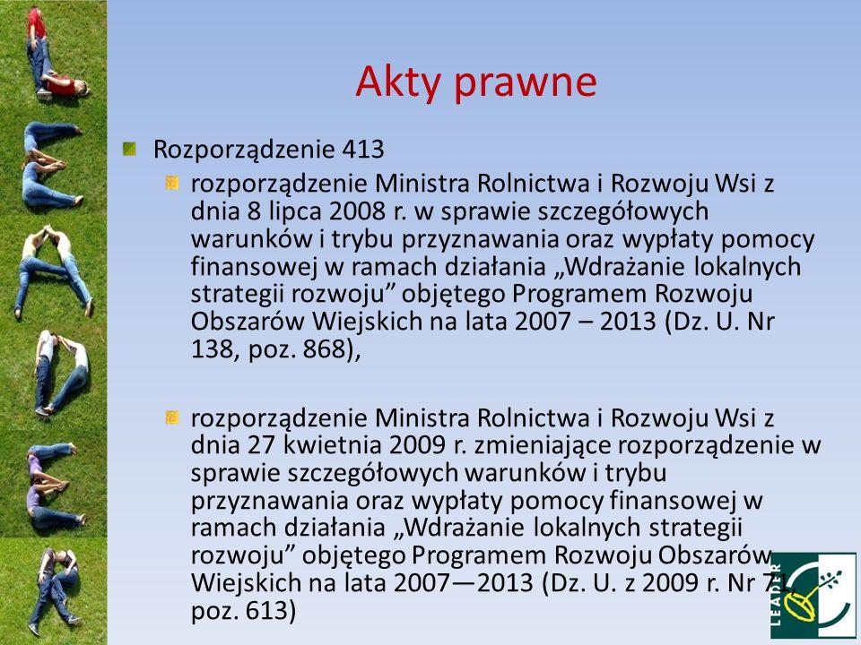 Akty prawne Rozporządzenie 413 rozporządzenie Ministra Rolnictwa i Rozwoju Wsi z dnia 8 lipca 2008 r. w sprawie szczegółowych warunków i trybu przyzna