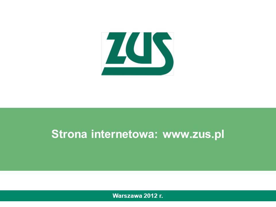 Strona internetowa: www.zus.pl Warszawa 2012 r.