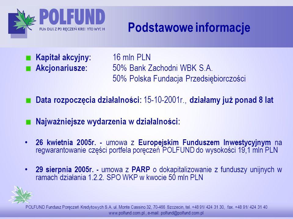 TYTUŁ POLFUND Fundusz Poręczeń Kredytowych S.A. ul.