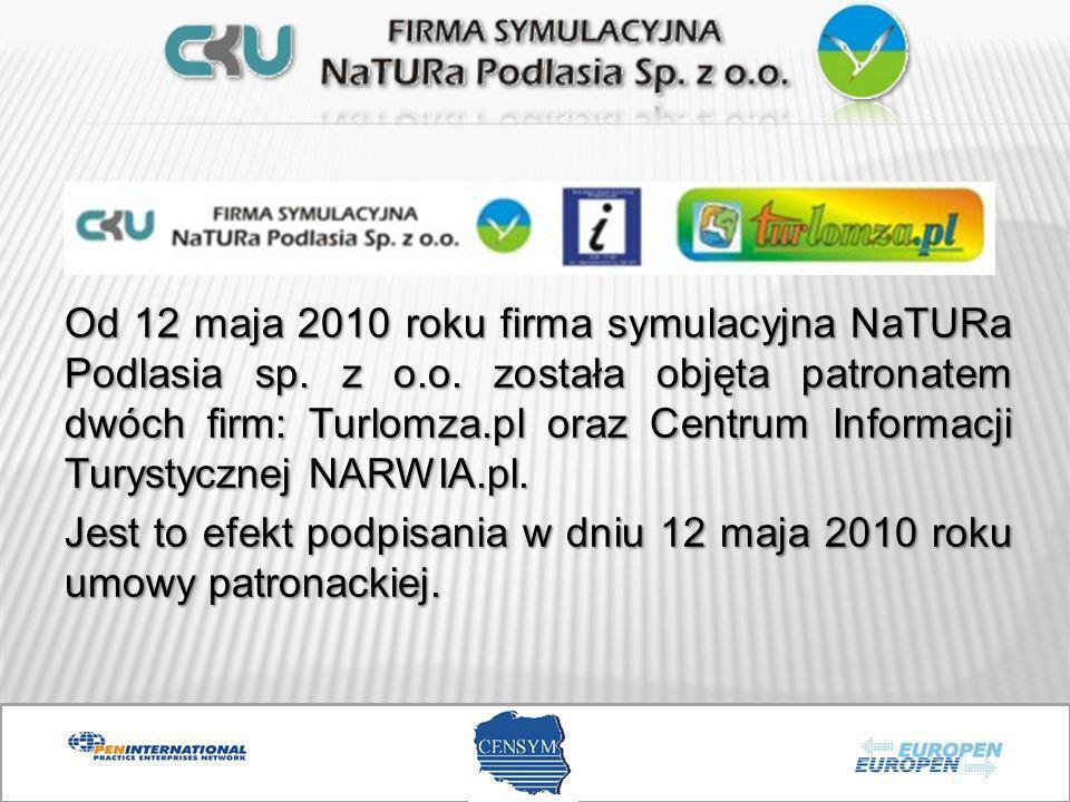 Od 12 maja 2010 roku firma symulacyjna NaTURa Podlasia sp. z o.o. została objęta patronatem dwóch firm: Turlomza.pl oraz Centrum Informacji Turystyczn