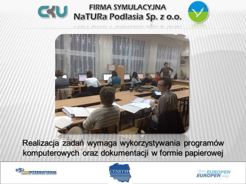 Od początku funkcjonowania naszej firmy utrzymujemy stały kontakt z Centralą Firm Symulacyjnych CENSYM w Zielonej Górze Centrala informuje nas na bieżąco o różnego rodzaju przedsięwzięciach: szkoleniach, konferencjach, targach firm symulacyjnych oraz działaniach EUROPEN-u.