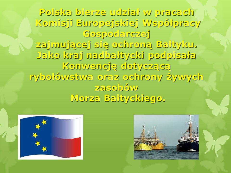 Polska bierze udział w pracach Komisji Europejskiej Współpracy Gospodarczej zajmującej się ochroną Bałtyku. Jako kraj nadbałtycki podpisała Konwencję