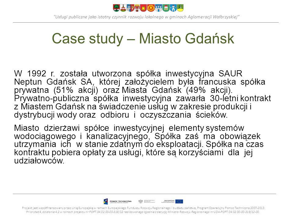 Usługi publiczne jako istotny czynnik rozwoju lokalnego w gminach Aglomeracji Wałbrzyskiej Case study – Miasto Gdańsk W 1992 r.