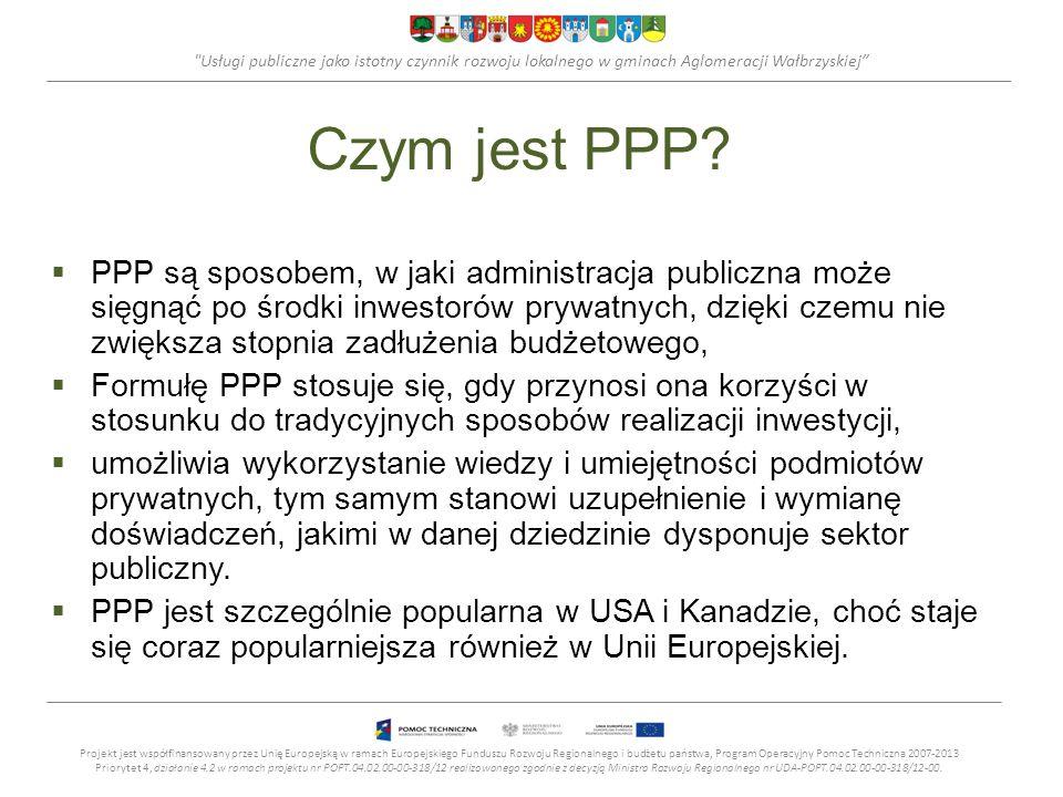 Usługi publiczne jako istotny czynnik rozwoju lokalnego w gminach Aglomeracji Wałbrzyskiej Czym jest PPP.